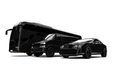 Luxury Fleet. 3D render image of a luxury fleet Stock Images