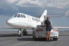 Luxury flight service Stock Photo