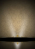 Luxury Floral Black, Brown and Gold Background Royalty Free Stock Photos