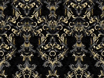 Luxury floral damask wallpaper. Seamless pattern background. Vector illustration Stock Photography