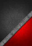 Luxury Floral Silver and Red Velvet Background Stock Images