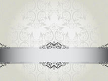 Luxury floral wallpaper with scroll Stock Image