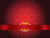 Luxury floral wallpaper with scroll Royalty Free Stock Image