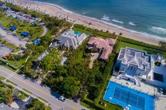 Luxury Florida Mansions On The Beach Royalty Free Stock Photo
