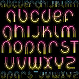 Luxury Font. Neon Letters for your design, vector with simply gradients Stock Image