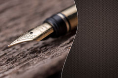 Luxury fountain pen  with space for text Royalty Free Stock Photography