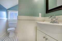 Luxury fresh green and white modern bathroom Royalty Free Stock Photos