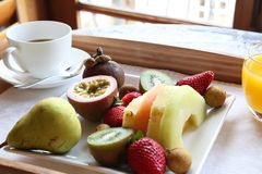 Luxury fruit breakfast Stock Photos