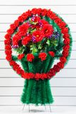 Luxury funeral wreath royalty free stock photo