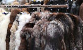 Luxury fur coat very sofly vintage style Stock Photos