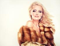 Luxury Fur Coat. Royalty Free Stock Photos
