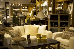 Luxury furniture home decor store Royalty Free Stock Photo