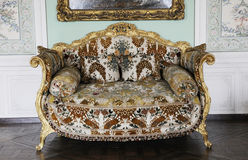Luxury furniture of royal palace Royalty Free Stock Images