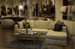 Luxury furniture store interiors Royalty Free Stock Photos