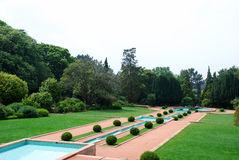 Luxury Garden. A luxury garden with lakes in Oporto (Portugal Royalty Free Stock Photo
