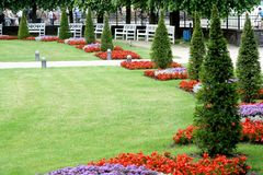 Luxury garden in Europe Royalty Free Stock Photos