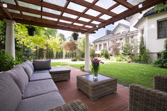 Luxury garden furniture Stock Photos