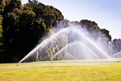 Luxury garden: irrigation Stock Photos