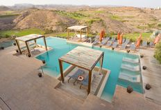 Luxury Garden Pool stock images