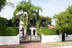 Luxury gated house Stock Photo