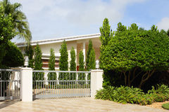 Luxury gated house Stock Images