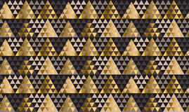 Luxury geometry black, gold and beige seamless vector illustrati Stock Photos