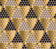 Luxury geometry black, gold and beige seamless vector Stock Image