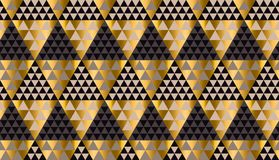 Luxury geometry black, gold and beige seamless vector Stock Photos