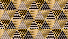 Luxury geometry black, gold and beige seamless vector Royalty Free Stock Photos