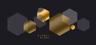 Luxury geometry style landscape composition Stock Image
