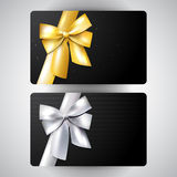 Luxury gift card set Stock Photos