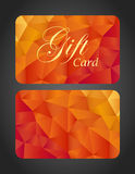 Luxury gift card - top and bottom side Stock Image