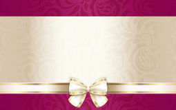 Luxury gift certificate with floral pattern and cr Stock Photo