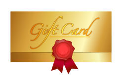 Luxury gift certificate illustration design Stock Photos
