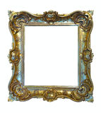 Luxury gilded frame. Isolated over white Royalty Free Stock Photo