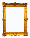 Luxury gilded frame. Isolated over white background Stock Photography