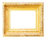 Luxury gilded  frame over white Royalty Free Stock Photo