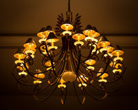 Luxury Glass Chandelier Royalty Free Stock Photography