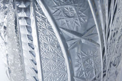 Luxury glass crystal pattern close-up Stock Images