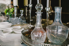 Luxury glasswares Royalty Free Stock Photography