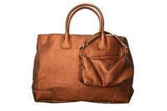 Luxury Glossy Brown Handbag Stock Photography