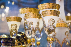 Luxury goblets Stock Images
