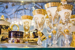 Luxury goblets Royalty Free Stock Image