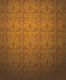 Luxury gold background. Floral pattern Stock Photography
