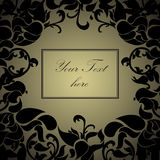 Luxury gold&black floral frame with text. Vector luxury gold&black floral frame with text Royalty Free Stock Images