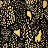 Luxury Gold Black Foil Texture Pattern, Random Drawn Shapes Geo vector illustration