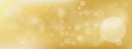 Luxury Gold bokeh vector image for background. The  luxury Gold bokeh vector image for background Royalty Free Stock Photography