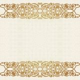 Luxury gold border on seamless background. Royalty Free Stock Images