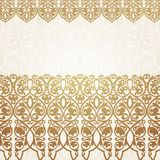 Luxury gold border on seamless background. Royalty Free Stock Photo