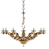 Luxury gold chandelier Royalty Free Stock Photography